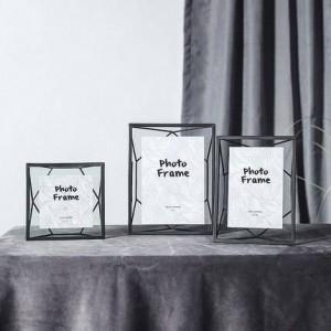 Nordic Wind Metal Marco de fotos geométrico creado Creativo Simple Moderno Marco de fotos 6 7 pulgadas Marco de imagen decorativo