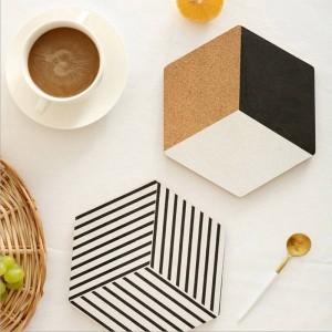 Bandeja de almacenamiento de mesa de madera nórdica Chic Almohadillas de aislamiento escandinavas Vogue Elegante escritorio de oficina de lujo Placa de almacenamiento Organizador Decoración