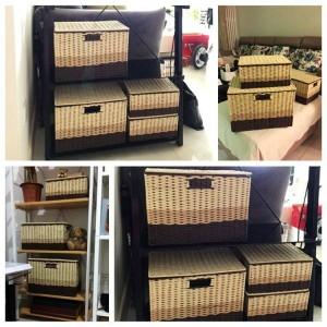 Cajas pastorales Cajas de almacenamiento Maquillaje de peluche Bocadillos Juguetes Ropa Cesta de ropa y caja de almacenamiento Cesta de lavandería
