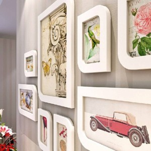 Marco de fotos combinación marco de pared marco de fotos de moda marco de fotos caja de lana Decoración de la boda decoración del hogar regalo