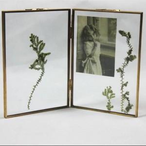 Marco de fotos Metal + vidrio de alta definición Hermoso marco de fotos Accesorios para la decoración del hogar Regalos