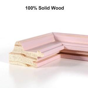 Marco de fotos de madera rosa Marco de fotos de madera natural Escritorio Mesa Decoración de oficina en casa Proyecto de artesanía 4x4