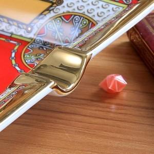Cenicero de porcelana hueso dios caballo diseño contorno de color rojo en forma rectangular de oro cenicero cenicero cigarrillo regalo de negocios