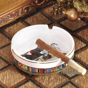 Cenicero de porcelana hueso dios caballos diseño mujer en oro cenicero de bolsillo de forma redonda cenicero portátil moda cenicero regalos