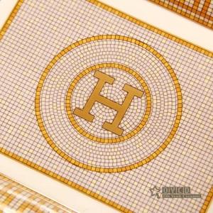 """Cenicero de porcelana hueso """"H"""" Marque el diseño del mosaico del contorno en cenicero de oro rectangular cenicero cigarrillo regalos de empresa"""