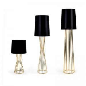 Post arte moderno decoración lámpara de pie diseño nórdico luz de pie Escritorio de oficina luz de arte decoración del hogar lámpara color dorado
