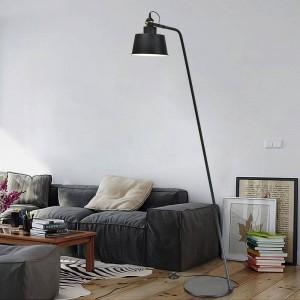 Lámpara de pie de diseño posmoderno Lámpara de pie de metal blanco negro Lámpara de lectura de la sala de estar Lámpara de lectura ajustable E27 Bombilla LED