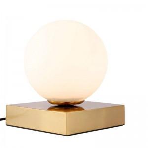 Poste de luz de mesa LED moderna lámpara E14 lámpara de mesa de pantalla de vidrio blanco creativo lámpara de oficina lámparas de luz simple decoración de la personalidad
