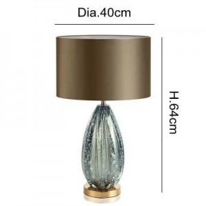 Post Modern lámpara de mesa Kung decoración del hogar piedra azul secene E27 Lámpara de mesa sala de estar dormitorio iluminación escritorio luz