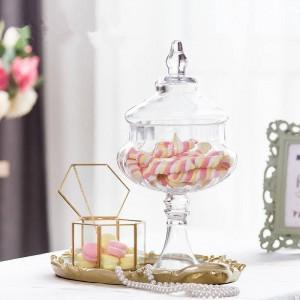 Calabaza frascos de vidrio de alta calidad frasco de caramelo comida con tapa tanque de almacenamiento botella contenedor florero banquete de boda latas creativas adornos