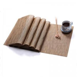 PVC Color puro Comer estera Estera de bambú Tejido de mesa Aislamiento de protección del medio ambiente Decoración del hogar Estera Decoración de la mesa