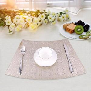 PVC impermeable aislamiento térmico plegable Anti-moho No antideslizante fácil de limpiar y aislar la estera de alimentos decoración de la mesa