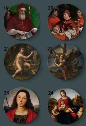 Raffaello Sanzio Pintura Placas decorativas Hogar Plato artístico Hotel Fondo Pantalla Nuestra Señora y Niño Placas de pintura al óleo
