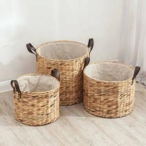Cesto de cesto de ratán sin tapa ropa sucia cesto de ropa cesto de almacenamiento cesto de paja grande cubo de almacenamiento de ropa sucia