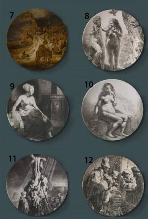 Rembrandt Harmenszoon van Rijn Pintura Placas decorativas Cerámica Países Bajos Hogar Plato Hotel Fondo Placa de exhibición