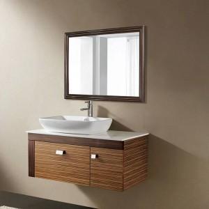 Espejo de baño de nogal negro retro sala de estar de pared dormitorio espejo de vanidad wx8221537