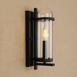 RH creativo lámpara de pared de hierro y vidrio estilo rural moderno estilo de lámpara para el restaurante cafetería pasillo sala de estar deco lámparas de pared