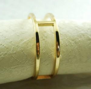 servilletero redondo de metal dorado, servilletero para boda, 24 piezas
