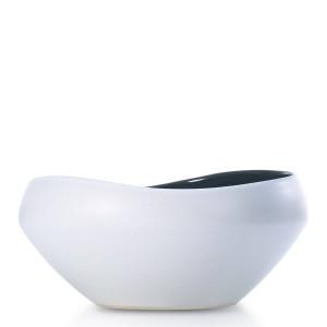 Frutero de cerámica semibrillante Pieza central decorativa Cuenco de cerámica El mejor para servir para ensalada de frutas Diseño moderno único