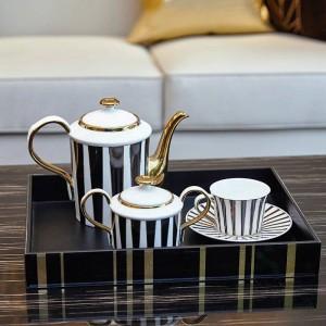 Juego de taza de café europeo simple, juego de habitación modelo, regalo de lujo para el hogar