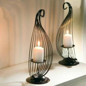 Simple moda creativa Muebles para el hogar Vela de hierro Candelero bar decoración de escritorio personalizada decoración de la boda