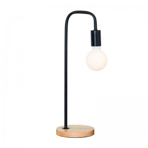 Lámpara de mesa moderna moderna lámpara de escritorio de madera de color blanco metal negro Decoración Lampe creativo E27 3W bombilla led Nordic Light