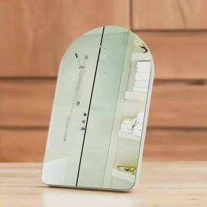 Sencillo espejo de maquillaje portátil de madera dormitorio en casa escritorio o en la pared espejo cosmético princesa para niña mx01111351