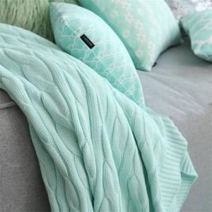 Soild Color Cama Sofá Mantas de viaje Manta de tejer de lana Inicio Algodón Verano Primavera Flores de cáñamo Manta de aire acondicionado