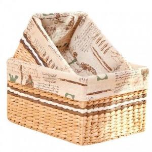 Caja de almacenamiento mesa de paja ratán canasta de almacenamiento tejida porche mesa de café aperitivos restos de almacenamiento canasta de tela
