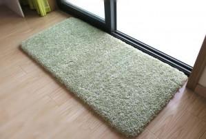 Tender Alfombra de piso verde para el dormitorio Sólido Alfombra de baño Alfombra antideslizante Para el inodoro Absorbente de agua Felpudo Super suave