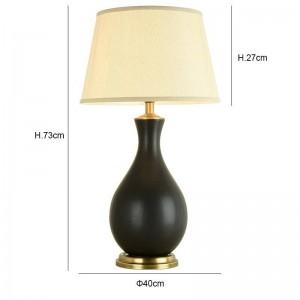 La moderna lámpara de mesa Kung decoración del hogar de cerámica de cobre arte secene E27 Lámpara de mesa sala de estar dormitorio iluminación del escritorio luz