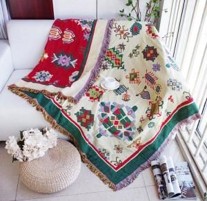 Engrosamiento Geometría Manta decorativa Navidad Decorativo Cobertor Manta Para Sofá / Camas Viaje Cuadros antideslizantes Mantas de costura