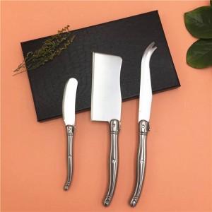 Para encontrarse con el kit de cuchillos para queso 3PCS Sándwich esparcidor Juego de cuchillos de mantequilla Herramientas de acero inoxidable estilo Laguiole Slicer