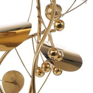 Escultura de frutas Estilo moderno Decoración para el hogar Estatuilla Estatua de acero inoxidable Resumen para accesorios de decoración del hogar de oficina