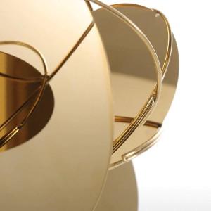 Espejo de oro Figuras modernas Decoración para el hogar Artesanía abstracta Ornamento Escultura de metal Interior Decoración del hogar Accesorios