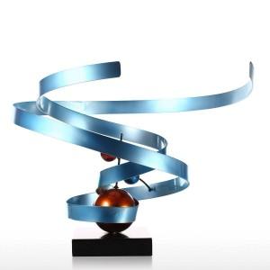 Nebulosa Escultura de hierro forjado abstracta Decoración de la casa Decoración de escritorio abstracta Escultura de escritorio contemporánea