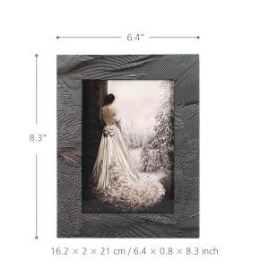 TOOARTS Marco de fotos con textura de penacho Piano de madera Hornear Barnizado Tecnología Oficina Studand Dormitorio Adorno para el hogar Marco de fotos