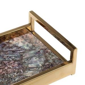 Rectangular Piano de madera para hornear Barnizado Tecnología Té Bandeja de frutas Café Decoración del hogar Bandeja de servicio
