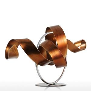 Estatua Wriggle Escultura moderna Escultura abstracta Metal Escultura abstracta Hierro Decoración del hogar Habitación Escritorio Ornamento