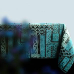 Top clásico azul chenilla paño de mesa para mesa de comedor / Hotel Club Noble Life mantel para mesas de té mesa de comedor regalo