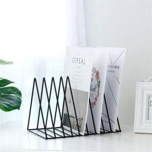 Triangular Metal Table Storage Basket European Chic Nordic Desk Storage Basket Storage Paper Documents Organizer Home Decor SL