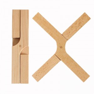 Trivet Mat Almohadilla caliente de madera plegable resistente al calor Trivet Pad para cocina