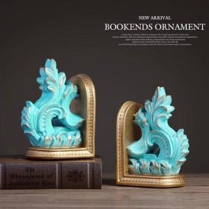 libro vintage termina sujetalibros decorativos escultura de resina pintada a mano para decoraciones del hogar manualidades de mesa sujetalibros para regalo