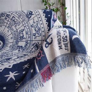 Manta de tiro de estilo exótico vintage Regalo decorativo Cobertor Manta Para Sofá / Camas Manta de viaje a cuadros Manta de costura antideslizante Borla