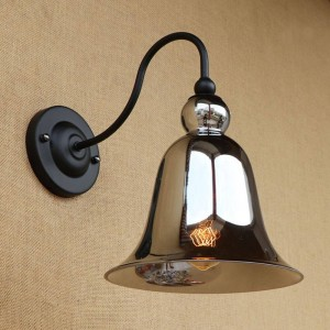 Lámparas de pared de vidrio manchado vintage iluminación Pantalla de vidrio de forma de cuerno luces de pared retro para dormitorio cabecera Loft bar escalera pasillo