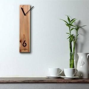 Reloj de madera Reloj de madera creativo Reloj de registro Diseño silencioso Sala de estar reloj de pared Oficina mesa de reuniones