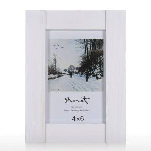 Marco de fotos de madera Marco de pantalla de vidrio real Marco de imagen Sobremesa de escritorio Marco de fotos de pared