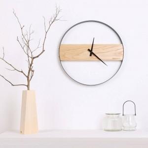 Reloj de pared de madera Sala de estar reloj de madera minimalista Reloj de moda creativa Mesa minimalista moderna Relojes de pared