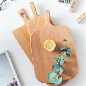 Bloques de cortar de madera de haya pizza de pan de frutas y verduras tabla de cortar durable duradera antideslizante herramientas de cocina en casa accesorios