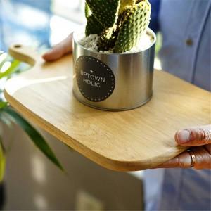 Bloques de madera para picar Haya Nuez Pizza Pan Fruta Queso Tabla de cortar colgante Durable antideslizante Utensilios de cocina Accesorios
